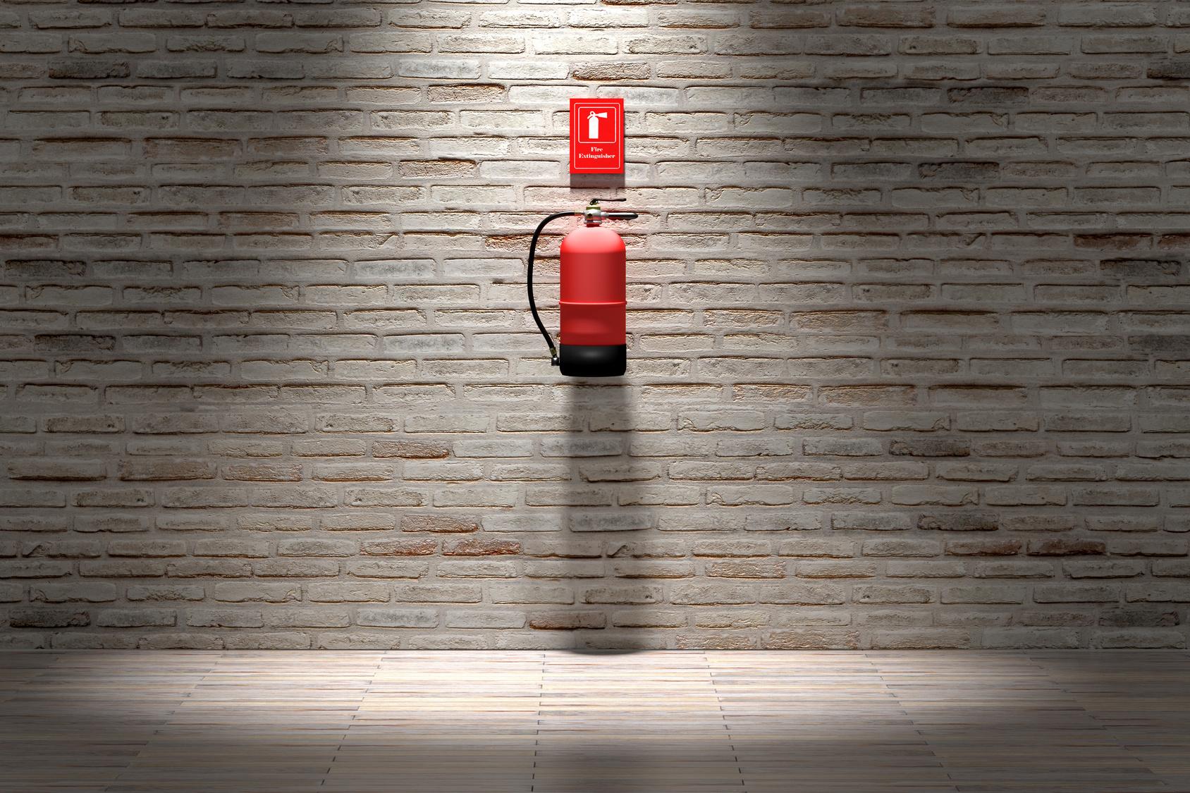 Image décorative extincteur sécurité incendie